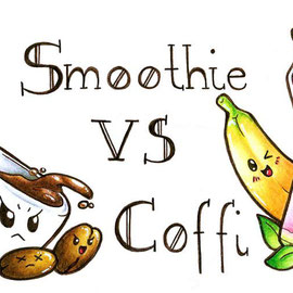 Tassenmotiv 1 - Smoothie vs. Coffi