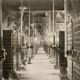 Blick auf die Plansichter. Aus: 25 Jahre Ferdinand Leysieffer & Lietzmann, 1885–1910. Köln-Deutz Industriehafen, 1910