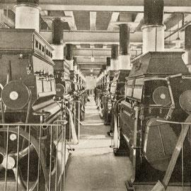 Blick auf den Walzstuhlboden. Ferdinand Leysieffer & Lietzmann. Köln-Deutz Industriehafen, 1910