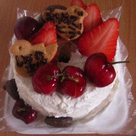 シフォンのケーキ