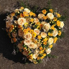 Blumenherz in gelb/crème