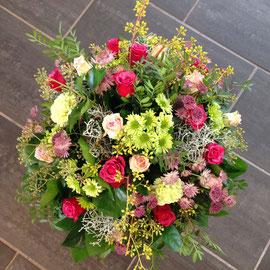 Blumenstrauss in pink/grün