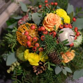 Blumenstrauss in orange/gelb