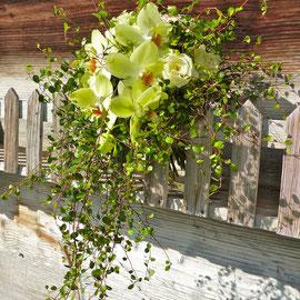 Brautstrauss grüne Orchideen