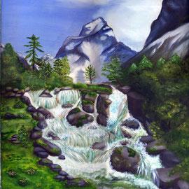 Paysage de montagne (collection privée) - © B. Dupuis