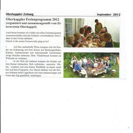Irmi Kaiser - Oberkappler Zeitung - Berichte