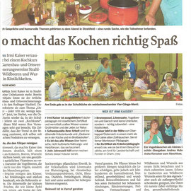 Irmi Kaiser - Rodinger Tagesblatt - So macht kochen richtig Spaß