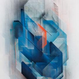 Kein Titel 01 - 120x80 cm - spraypaint, acrylics, cardboard on canvas - 2015 - SOLD