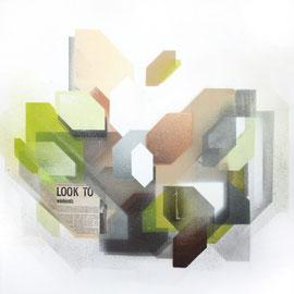 50x50 cm - spraypaint, acrylics, paper on canvas - 2014 - SOLD