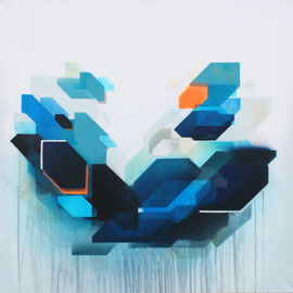 """Square Pants""  100x100 cm - spraypaint, acrylics on canvas - 2015 - Preis auf Anfrage"