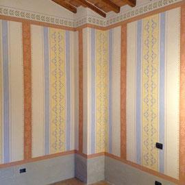 Decorazione pareti, stile Napoleone.