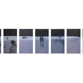 Settembre, 2012 - acrilico su tela, 90x350 cm