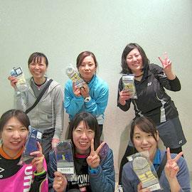 女子1部で優勝したウィスタリアチーム
