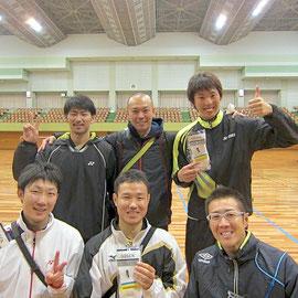 男子1部で優勝したウィスタリアBチーム