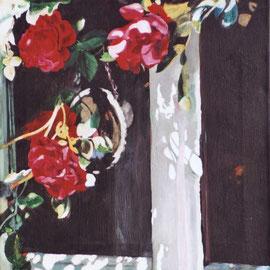Les Roses, Acryl auf Leinwand (verkauft)