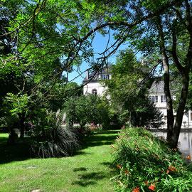 Les Moulins Banaux, un parc arboré au bord de la Vanne
