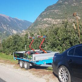 Transport der Allzweckmaschinen