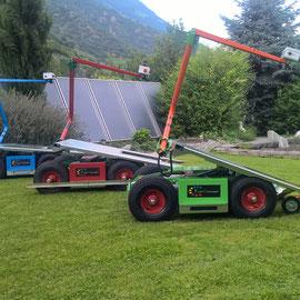 Der Kistenwagen in verschiedenen Kipp-Positionen
