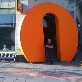 Letra Gigante Embocadura de Entrada