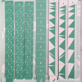 Kit Calculus: batons de Neper con índice y reglettes de Genaille-Lucas, 2x23 cm cada varilla