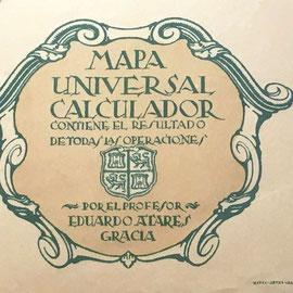 Detalle del Mapa Universal Calculador, basado en el método para la multiplicación abreviada de Rosendo BOTELLA VERT (año 1915)