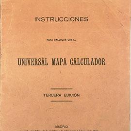 Librillo de instrucciones para el Mapa Universal Calculador, 40 páginas, 12x17 cm