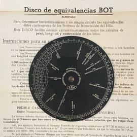 Instrucciones de uso para el disco BOT para sistemas de numeración de hilos