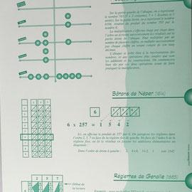 Kit Calculus: abaque á jetons, batons de Neper y reglettes de Genaille-Lucas