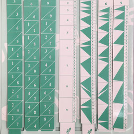 Kit Calculus: reglettes de Genaille-Lucas con índice y batons de Neper, 2x23 cm cada varilla