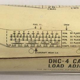 Esta regla fue usada como complemento de navegación aérea en el avión militar de transporte táctico DHC-4 CARIBOU