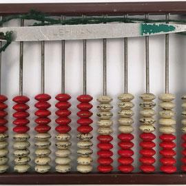 """Ábaco ruso """"schoty"""" LEHMANN, 10 columnas de 10 bolas cada una, metal, 15x11 cm"""