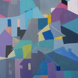Villes imaginaires Acrylique. 61X46 cm