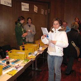 In der Stadthalle von Werl - beim Unterlagen holen am 30.12.2006