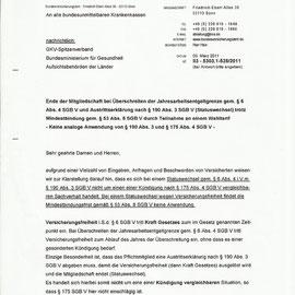 Rundschreiben Bundesversicherungsamt - Seite 1