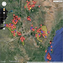Mappa Alloggi Parchi Nazionali   & Partners