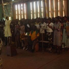Chorale pendant la messe
