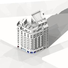 Desarrollo 3d, Hotel, Madrid
