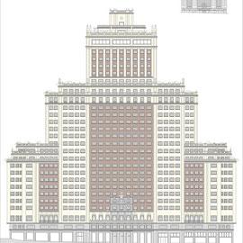 Edificio Plaza España, Madrid, Levantamiento y mediciones de edificios, Rodrigo Perez Muñoz, Arquitecto