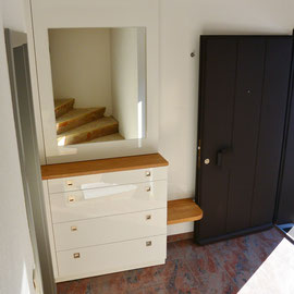 garderobe mit schuhschrank schreinerei holzdesign rapp geisingen. Black Bedroom Furniture Sets. Home Design Ideas