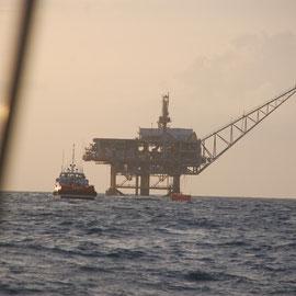 Ölbohrinsel vor Trinidad