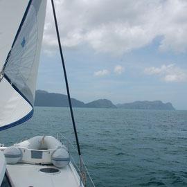 Annäherung im Strom.....vor der Küste Trinidads