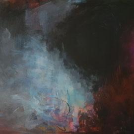 Das Werden der Welt I, 2010, Acryl auf Leinwand, 80 x 100 cm