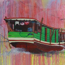 Mekong I, 2017, Acryl auf Leinwand, 65 x 105 cm