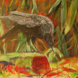 Ohne Titel, 2008, Acryl auf Leinwand, 80 x 100 cm