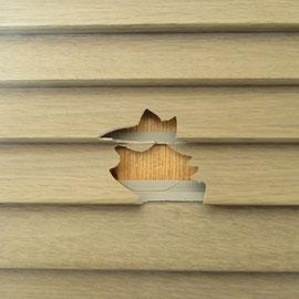 クローゼットの扉の部分的なワレ