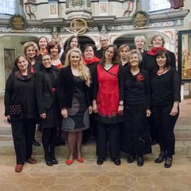 Das Chorensemble in der Kirche in Oberweimar, 2015