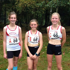 U15s Briony Bishop, Natalie Ashley-Towell, Laura McPeake