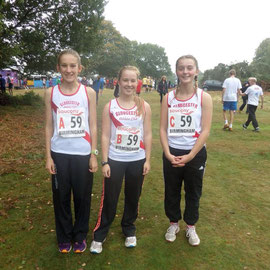 U17s Bethan Moor, Heather Christie, Alex Bache
