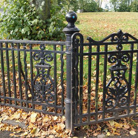 Park gate and railings