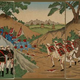 038朝鮮記聞大日本陸軍護営之図